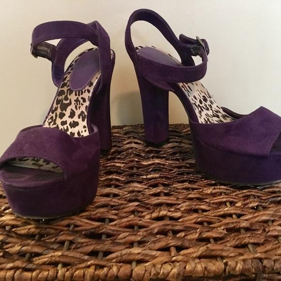 c347b1678ce Purple Velvet Platform heels